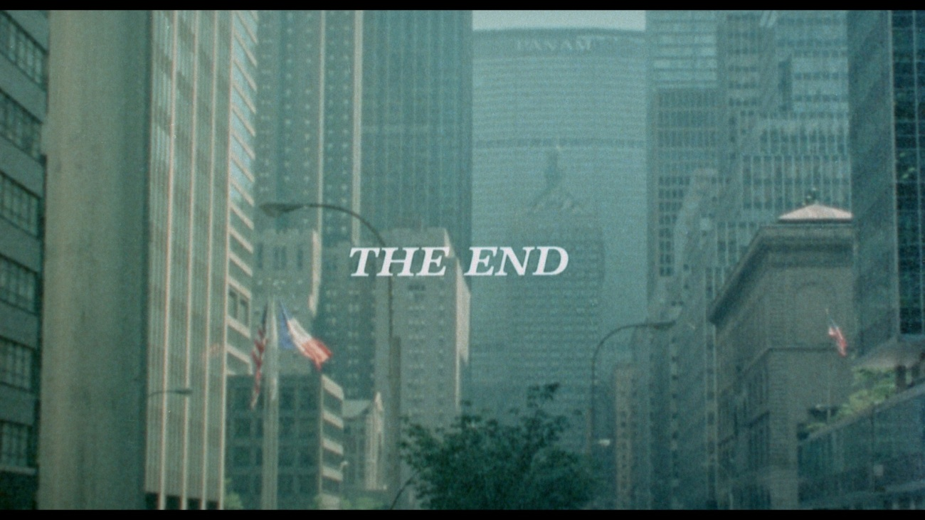 Brand New HD Screen grab of the credits at the end of the film. THE END!