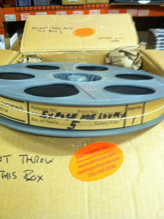Expose Me Lovely Film Print, Mint condition, Wound tight, on 5 reels. Make sure reels are labeled well.