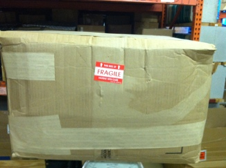 "STEP 8: OUTER BOX, ready to ship, I like to add FRAGILE stickers and write ""HEAVY"", the total box weight is 49 pounds."