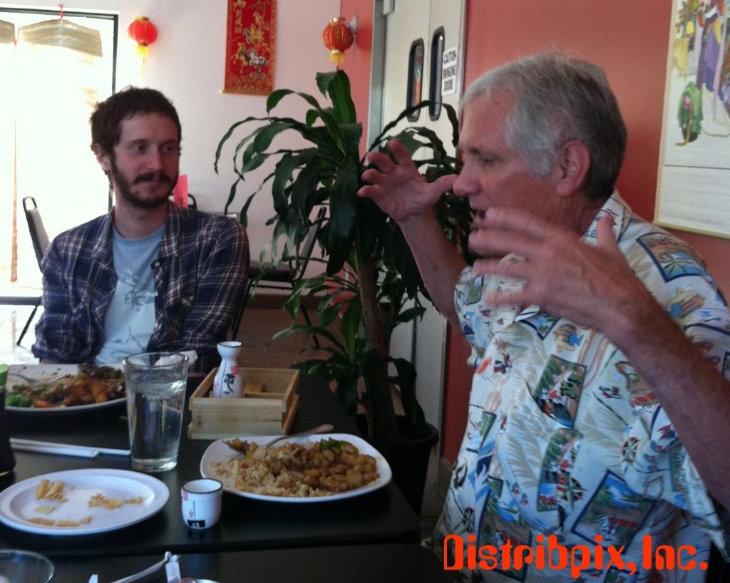 Eric Edwards and Joe Rubin enjoying some nice conversation.