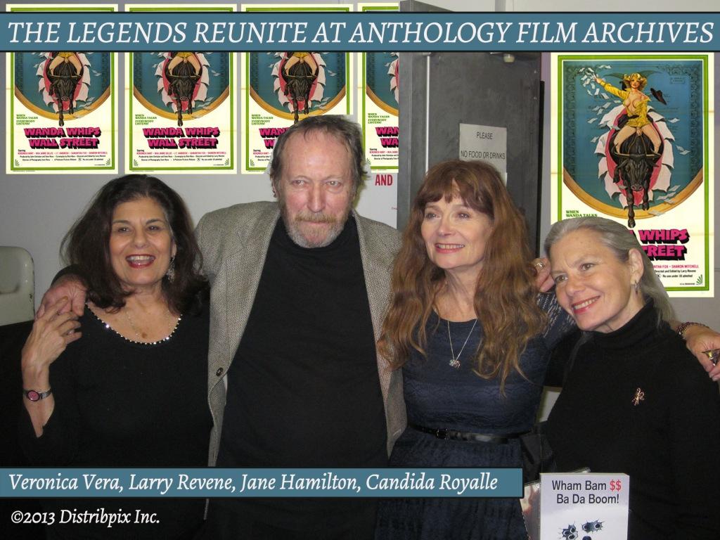 L to R: Veronica Vera, Larry Revene, Veronica Hart, Candida Royalle