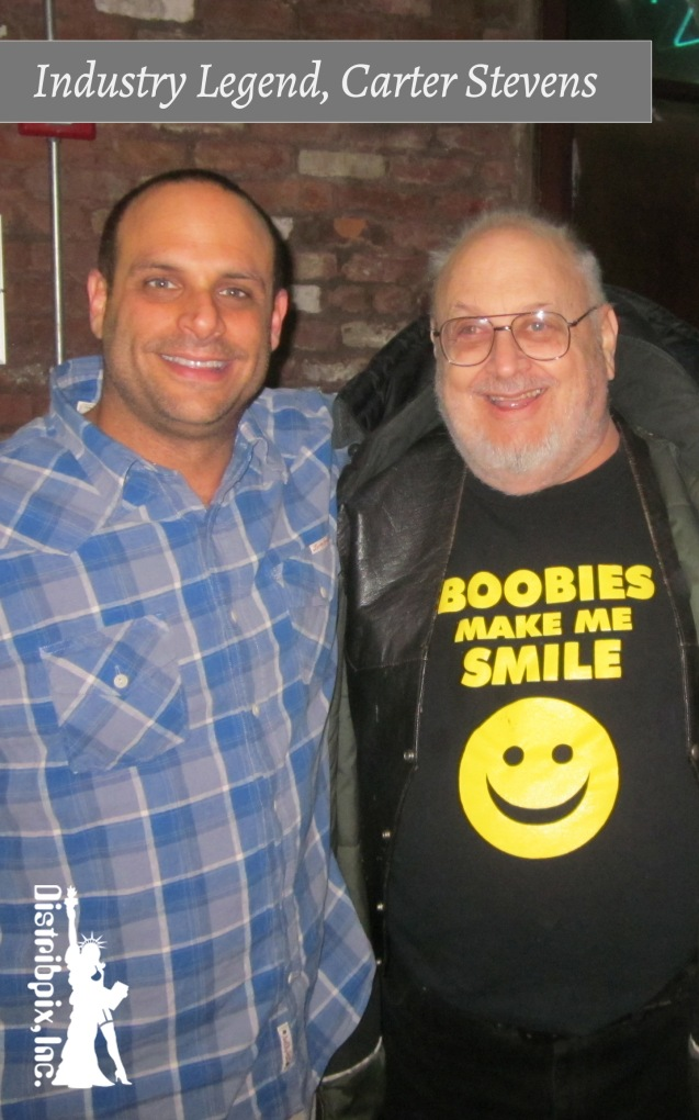 L to R: Distribpix Man with Legendary Adult Industry Veteran, Carter Stevens(Mal Worob).
