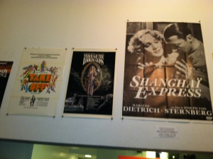 Lobby Posters at Anthology Film Archives.