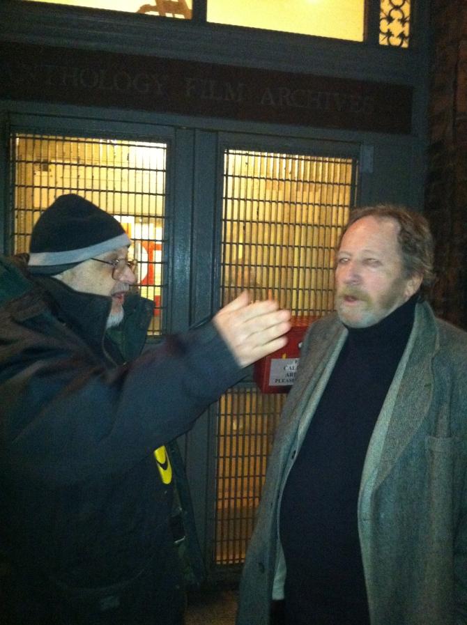 Adult Industry Legends, Carter Stevens(R) and Larry Revene(L), reuniting at Anthology Film Archives