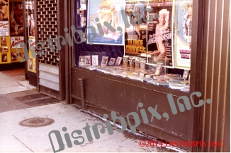 One of many Video Shack, window displays, 49st, NYC.