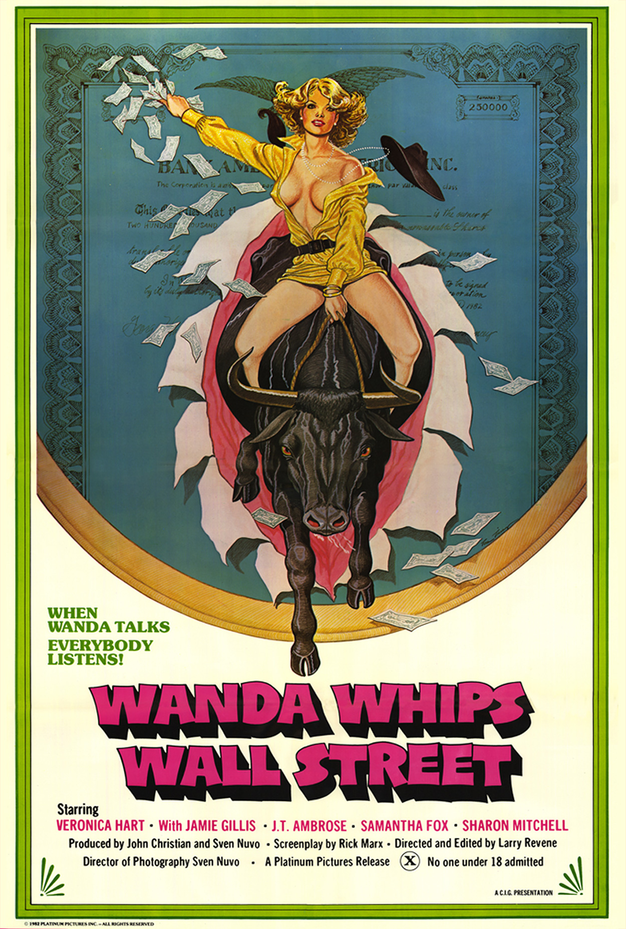 Wand Whips Wall Street, Original Theatrical Poster. ©Distribpix Inc.
