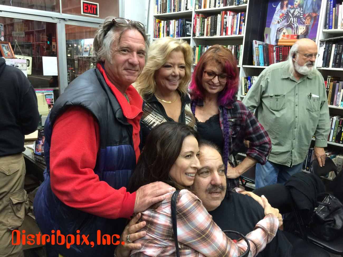 Bottom: Christy Cnayon and Ron Jeremy. Top: Howie Gordon(Richard Pacheco) Karen Summer, Kelly Nichols.