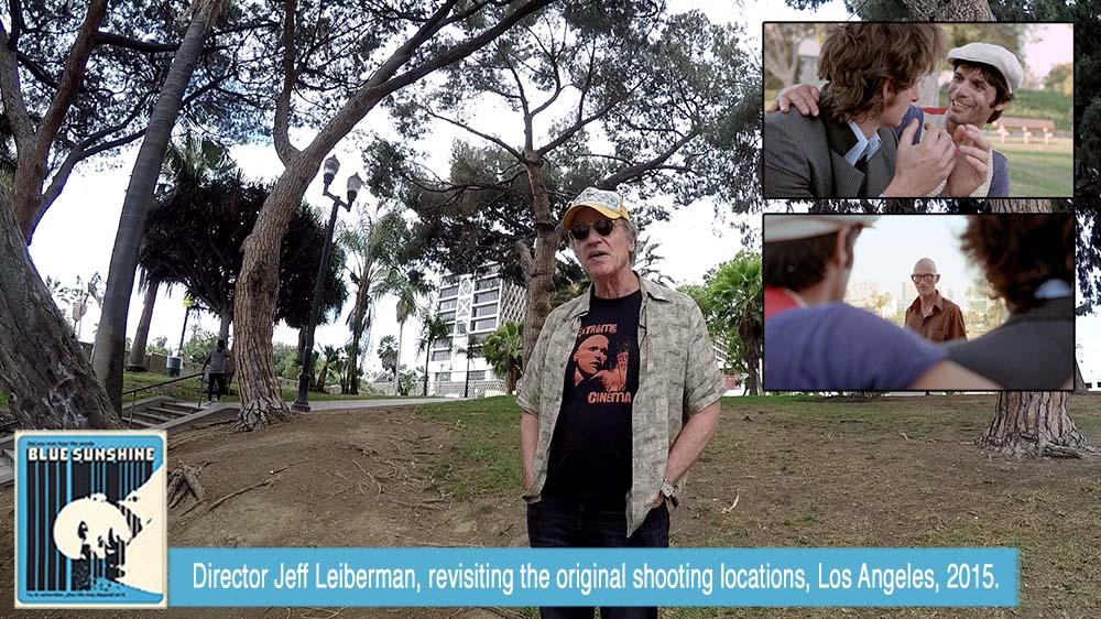 Director Jeff Lieberman, revisiting the original shooting locations, Summer 2015.