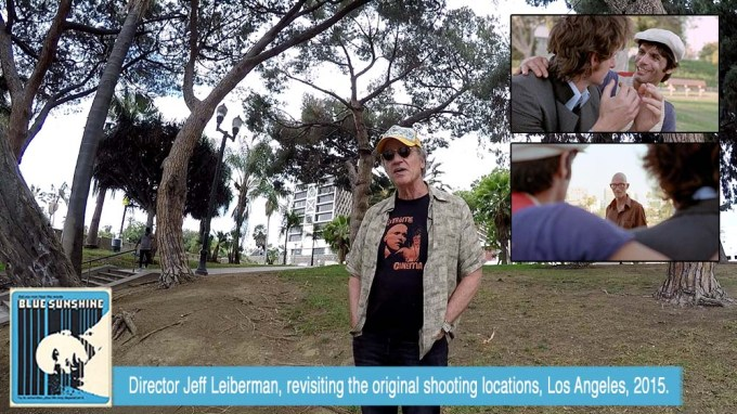Director Jeff Lieberman, revisiting the original shooting locations, Summer 2015.