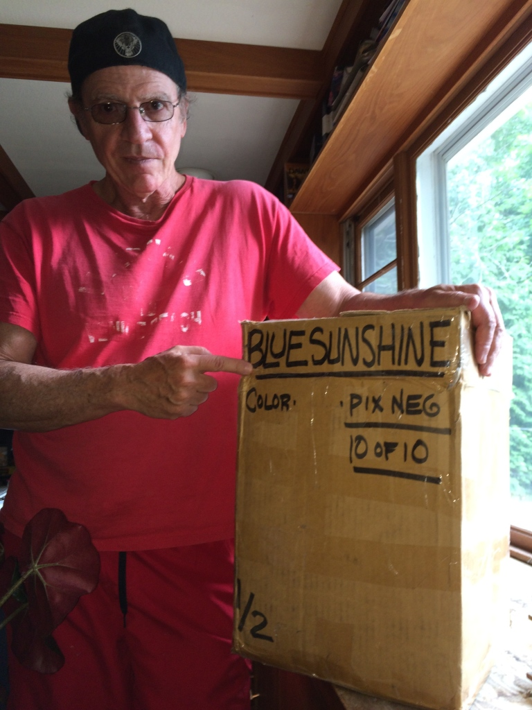 Director Jeff Lieberman, reunites with his Negative elements for Blue Sunshine. A happy man!