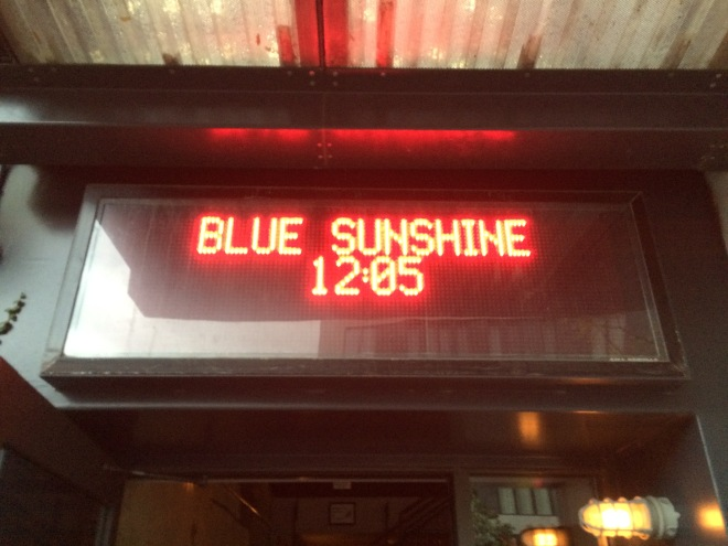 Blue Sunshine, Nitehawk Cinema, Brooklyn , NY. Screening of the 2k DCP.